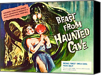 1950s Movies Canvas Prints - Beast From Haunted Cave, Sheila Carol Canvas Print by Everett