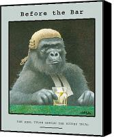 Gorilla Painting Canvas Prints - Before the bar... Canvas Print by Will Bullas