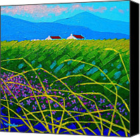 Artist Framed Prints Canvas Prints - Blue Hills  Canvas Print by John  Nolan