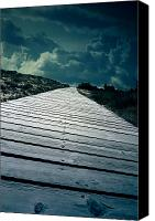 Eerie Canvas Prints - Boardwalk Canvas Print by Joana Kruse