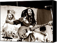 Music Photo Canvas Prints - Bob Marley 1979 Canvas Print by Chris Walter