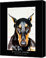 Dobe Canvas Prints - Brown Eyed Girl Canvas Print by Rita Kay Adams