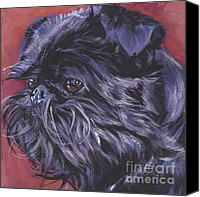 Brussels Canvas Prints - Brussels Griffon Canvas Print by Lee Ann Shepard