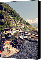 Architecture Photo Canvas Prints - Cannero Riviera Canvas Print by Benjamin Matthijs