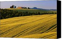 Rural Scenes Canvas Prints - Cappella di Vitaleta Canvas Print by Brian Jannsen