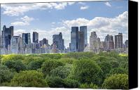 City Scape Digital Art Canvas Prints - Central Park South Canvas Print by Ariane Moshayedi