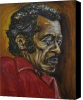 Chuck Berry Canvas Prints - Chuck Berry Canvas Print by Michael Titherington