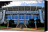 Cleveland Stadium Canvas Prints - Cleveland Browns Stadium Canvas Print by Robert Harmon