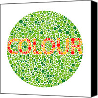 Sensitive Canvas Prints - Colour Blindness Test Canvas Print by David Nicholls