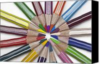 Colored Pencil Canvas Prints - Coloured Pencil Canvas Print by Joana Kruse