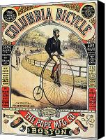 High Wheel Canvas Prints - Columbia Bicycles Poster Canvas Print by Granger