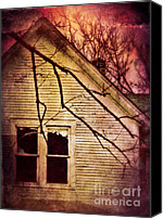 Haunted House Photo Canvas Prints - Creepy Abandoned House Canvas Print by Jill Battaglia