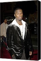 Cent Canvas Prints - Curtis 50 Cent Jackson At Arrivals Canvas Print by Everett