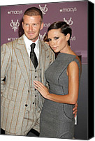 Herald Canvas Prints - David Beckham Wearing A Tom Ford Suit Canvas Print by Everett