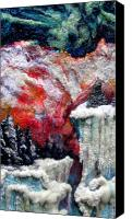 Winter-landscape Tapestries - Textiles Canvas Prints - Detail of Winter Canvas Print by Kimberly Simon