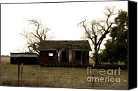 Farm Houses Canvas Prints - Dilapidated Old Farm House . 7D10341 Canvas Print by Wingsdomain Art and Photography