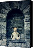 Stone Wall Canvas Prints - Doll Canvas Print by Joana Kruse