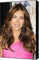 Appearance Canvas Prints - Elizabeth Hurley At A Public Appearance Canvas Print by Everett