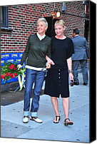 2010s Fashion Canvas Prints - Ellen Degeneres, Portia De Rossi Canvas Print by Everett