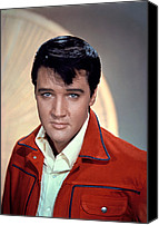 Elvis Canvas Prints - Elvis Presley Canvas Print by Everett