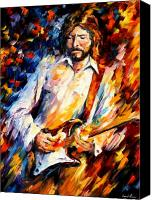 Clapton Canvas Prints - Eric Clapton Canvas Print by Leonid Afremov