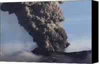 Eruption Canvas Prints - Eyjafjallajökull Eruption, Iceland Canvas Print by Martin Rietze