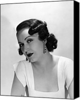 1930s Hairstyles Canvas Prints - Fay Wray, Ca. 1930s Canvas Print by Everett