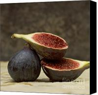 Foodstuff Canvas Prints - Figs Canvas Print by Bernard Jaubert