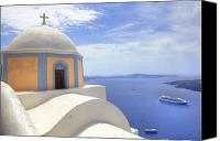 Cruise Photo Canvas Prints - Fira - Santorini Canvas Print by Joana Kruse