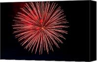 Fire Works Canvas Prints - Fireworks at Pitt Meadows day Canvas Print by Ivan SABO