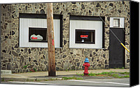 Corner Cafe Canvas Prints - Frankies Tavern - Binghampton New York Canvas Print by Frank Romeo