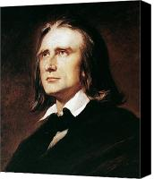 Hungary Canvas Prints - Franz Liszt (1811-1886) Canvas Print by Granger