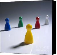 Piece Canvas Prints - Game pieces in various colours Canvas Print by Bernard Jaubert