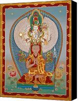 Thangka Canvas Prints - Gelongma Palmo Canvas Print by Sergey Noskov