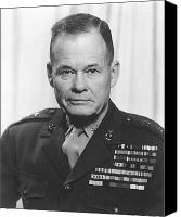 Soldier Painting Canvas Prints - General Lewis Chesty Puller Canvas Print by War Is Hell Store