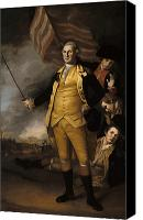 Us Patriot Canvas Prints - General Washington Canvas Print by War Is Hell Store