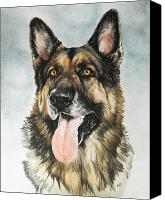 Pets Canvas Prints - German Shepherd Canvas Print by Barbara Keith