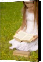 Reading Canvas Prints - Girl Is Reading A Book Canvas Print by Joana Kruse