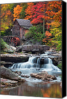 Grist Mill Canvas Prints - Glade Creek Grist Mill  Canvas Print by Emmanuel Panagiotakis