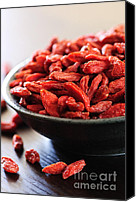 Snack Canvas Prints - Goji berries Canvas Print by Elena Elisseeva