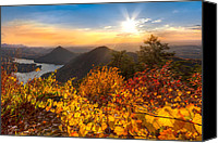 Appalachia Photo Canvas Prints - Golden Hour Canvas Print by Debra and Dave Vanderlaan
