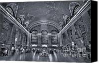 Public Transportation Canvas Prints - Grand Central Station Canvas Print by Susan Candelario