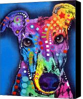 Hound Canvas Prints - Greyhound Canvas Print by Dean Russo