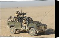 Dirt Roads Photo Canvas Prints - Gurkhas Patrol Afghanistan In A Land Canvas Print by Andrew Chittock