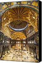 Sofia Canvas Prints - Hagia Sophia Interior Canvas Print by Artur Bogacki
