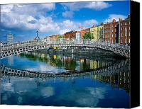Walked Canvas Prints - Hapenny Bridge, River Liffey, Dublin Canvas Print by The Irish Image Collection