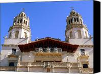 Cambria Photo Canvas Prints - Hearst Castle Canvas Print by Jeff Lowe