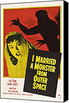 Horror Fantasy Movies Canvas Prints - I Married A Monster From Outer Space Canvas Print by Everett