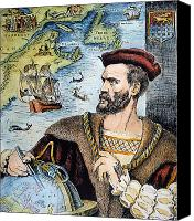 New World Canvas Prints - Jacques Cartier (1491-1557) Canvas Print by Granger