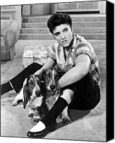 1950s Movies Canvas Prints - Jailhouse Rock, Elvis Presley, 1957 Canvas Print by Everett